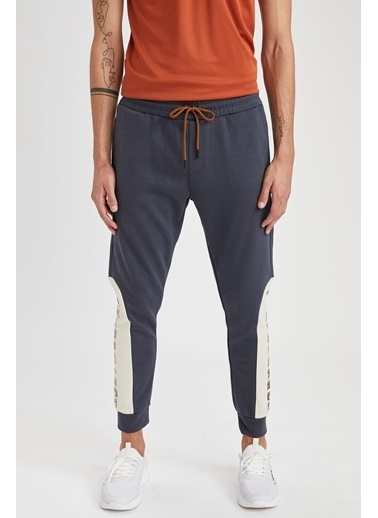 Defacto –Fit Slim Fit Baskılı Jogger Eşofman Altı Mavi